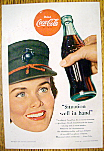 1953 Coca Cola (Coke) with a Woman Smiling (Image1)
