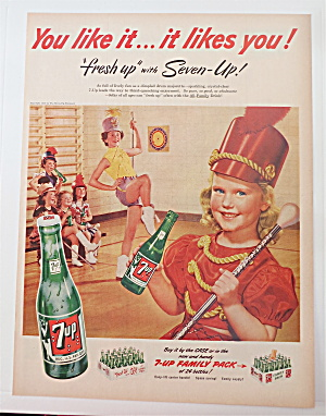 1952 7 Up (Seven Up) With Little Girl & Baton