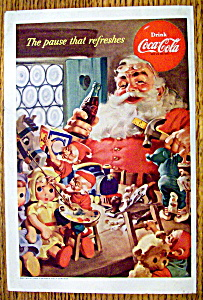 1953 Coca Cola (Coke) with Santa Claus & Toys (Image1)