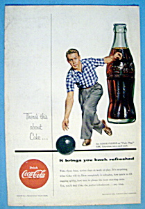 1954 Coca Cola (Coke) With A Man Bowling