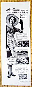 Vintage Ad: 1954 See South Carolina w/Miss Universe (Image1)