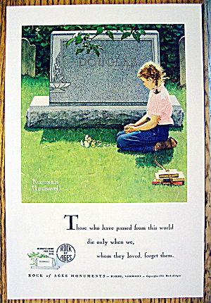 1955 Rock Of Ages Of Girl Kneeling By Norman Rockwell