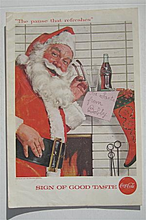 1957 Coca Cola (Coke) with Santa Claus & Note  (Image1)