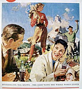 1958 Coca Cola (Coke) with Switzerland (Image1)