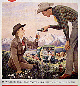 1958 Coca Cola (Coke) with Wyoming (Image1)