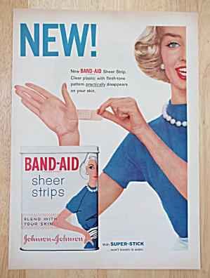 1958 Johnson & Johnson Band Aid Sheer Strips w/ Woman (Image1)