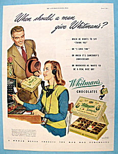 1945 Whitman's Chocolates with Man Giving Woman Candy  (Image1)