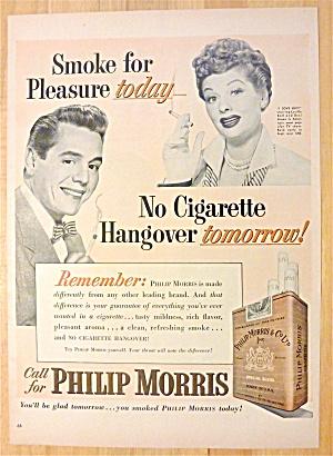 1952 Philip Morris w/TV's Lucille Ball & Desi Arnaz (Image1)
