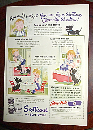 1942 Scottissue & Scottowels with Little Boy & His Dog (Image1)