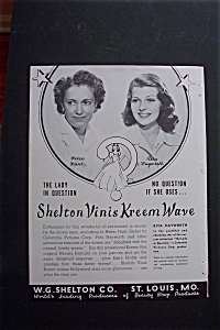 Vintage Ad: 1940 Shelton Kreem Wave W/rita Hayworth