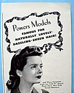Vintage Ad: 1943 Kreml Shampoo w/ Powers Model (Image1)