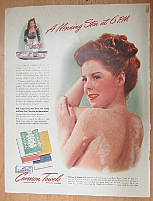 1943 Cannon Towels with Lovely Woman Bathing  (Image1)