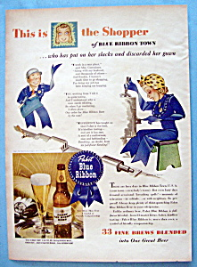 1943 Pabst Blue Ribbon Beer with Shopper of Blue Ribbon (Image1)
