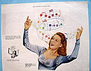 Vintage Ad: 1945 General Electric Radio w/ Dinah Shore (Image1)