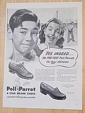 Vintage Ad: 1945 Poll Parrot & Star Brand Shoes (Image1)