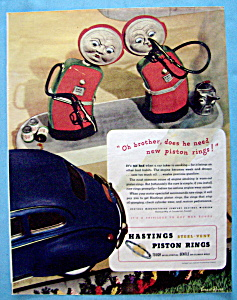 Vintage Ad: 1945 Hastings Piston Rings (Image1)