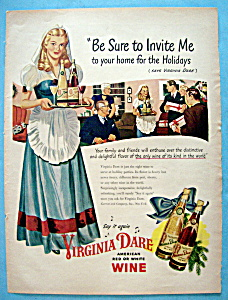 Vintage Ad: 1946 Virginia Dare Wine