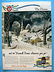 Vintage Ad: 1946 Maxwell House Coffee By Ernest Fiene (Image1)