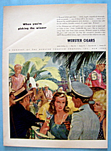 Vintage Ad: 1946 Webster Cigars