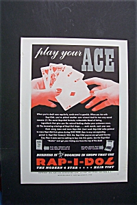 1940 Rap-I-Dol Hair Tint w/ Hand Holding Playing Cards (Image1)