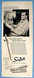 Vintage Ad: 1947 Scripto Pencil with Stevan Dohanos (Image1)