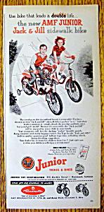 Vintage Ad: 1954 AMF Junior Jack & Jill Trikes & Bikes (Image1)