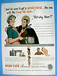 Vintage Ad: 1947 Wear Ever Aluminum Pressure Cooker (Image1)