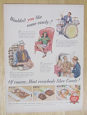 1947 Candy with Variety of People Eating Candy  (Image1)
