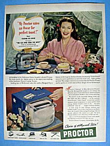 Vintage Ad: 1949 Proctor Toaster w/Yvonne De Carlo (Image1)