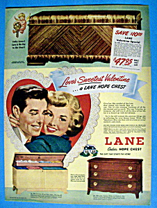 Vintage Ad: 1949 Lane Cedar Hope Chest (Image1)