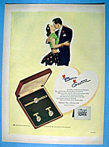 Vintage Ad: 1949 Swank Beau Knot Tie Clip & Cuff Links