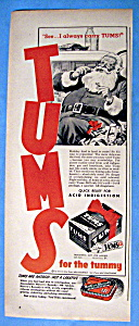 Vintage Ad: 1949 Tums with Santa Claus (Image1)