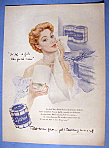 Vintage Ad: 1949 Soft Weve Toilet Tissue (Image1)