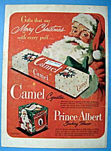 Vintage Ad: 1949 Camel Cigarettes with Santa Claus (Image1)