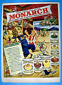 Vintage Ad: 1949 Monarch Finer Foods