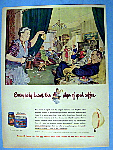 Vintage Ad: 1949 Maxwell House Coffee