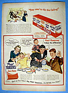 Vintage Ad: 1949 Post Toasties Corn Flakes