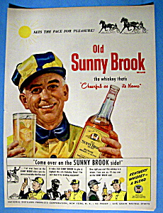 Vintage Ad: 1949 Old Sunny Brook Whiskey