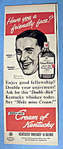 1949 Cream Of Kentucky W/man By Norman Rockwell