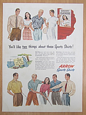 1946 Arrow Sports Shirts with Men Surrounding a Woman (Image1)