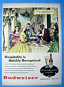 Vintage Ad: 1949 Budweiser Beer (Image1)