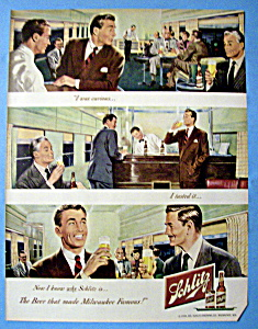 1949 Schlitz Beer with Two Men at the Bar (Image1)
