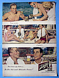 1949 Schlitz Beer with People by the Pool (Image1)