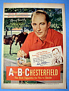 1949 Chesterfield Cigarettes with Bing Crosby (Image1)