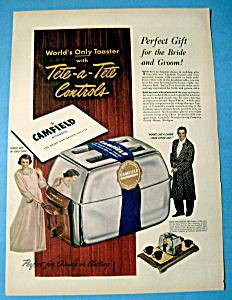 Vintage Ad: 1950 Camfield Automatic Toaster (Image1)