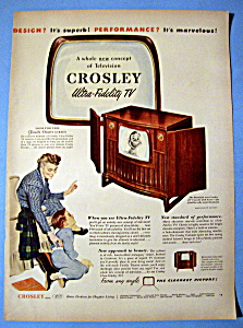 Vintage Ad: 1950 Crosley Ultra Fidelity TV (Image1)