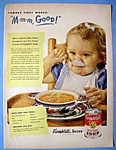 Vintage Ad: 1950 Campbell's Vegetable Soup (Image1)