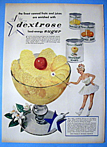 Vintage Ad: 1950 Dextrose Food Energy Sugar