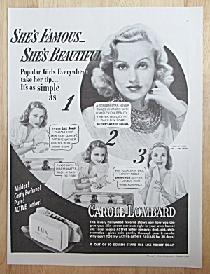 1941 Lux Toilet Soap with Carole Lombard (Image1)