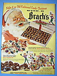 1952 Brach's Chocolates with Santa Claus Holding Box (Image1)